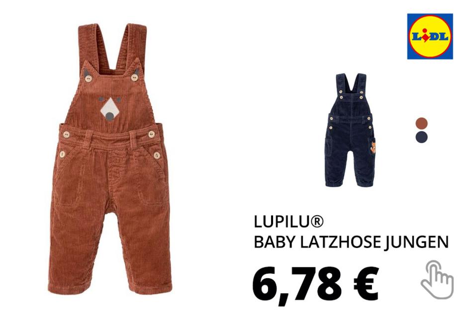 LUPILU® Baby Latzhose Jungen, mit verstellbaren Trägern