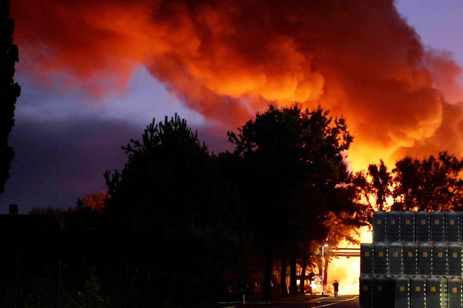 Am frühen Morgen standen mehrere Lagerhallen in der Hüttengasse in Brand.
