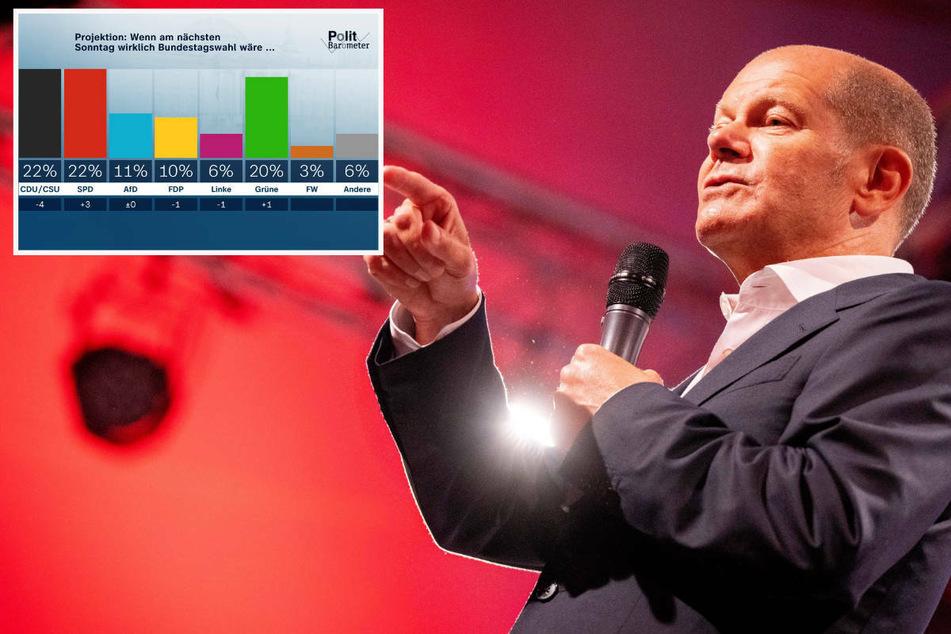 Höhenflug von Olaf Scholz zieht SPD mit: Union beim ZDF-Politbarometer eingeholt
