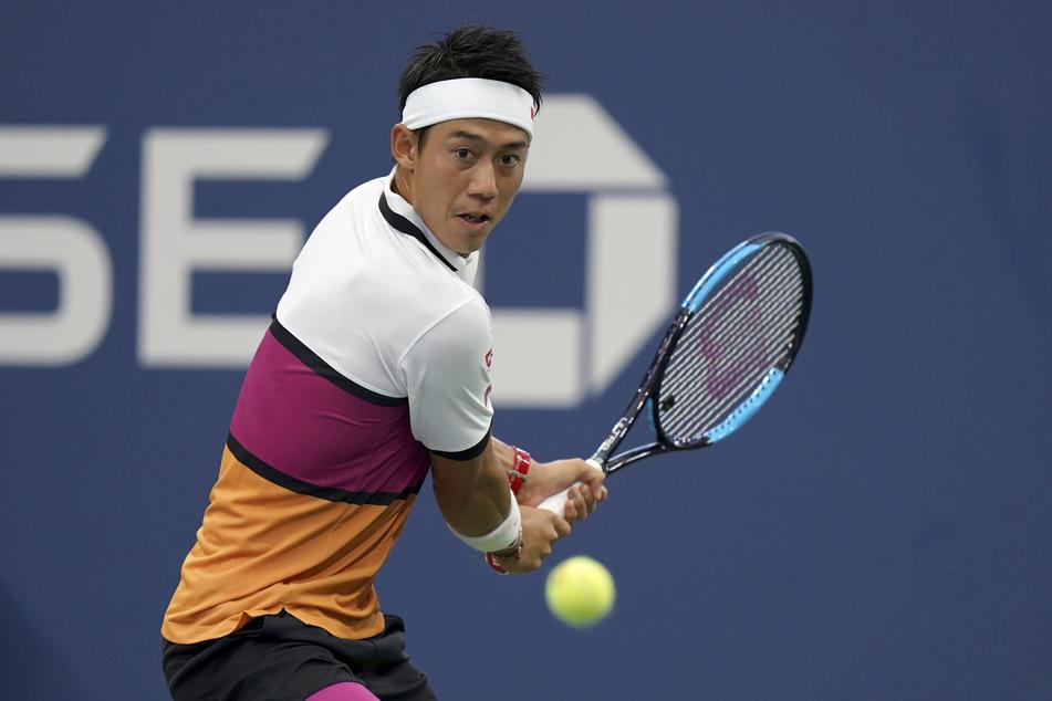 Kei Nishikori in Aktion. Der ehemalige US-Open-Finalist ist positiv auf das Coronavirus getestet worden und hat seine Teilnahme am Masters-Series-Turnier von Cincinnati abgesagt.
