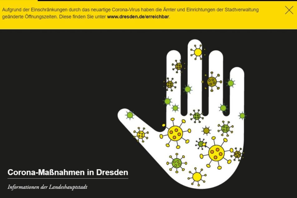 Besonders häufig wird die Corona-Seite der Stadt aufgerufen. Foto: screenshot/dresden.de