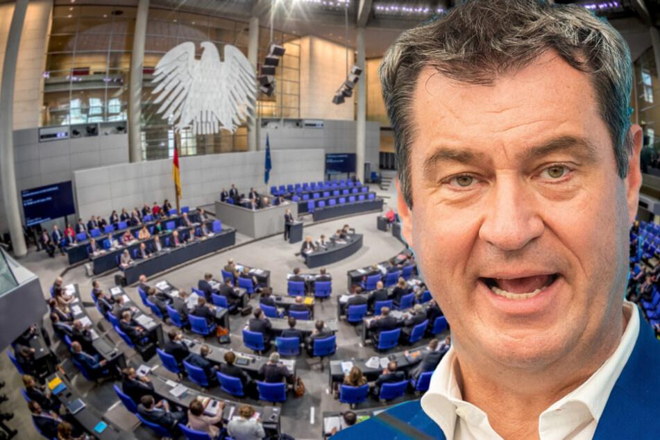 Wahlrecht soll reformiert werden: Söder schießt gegen SPD