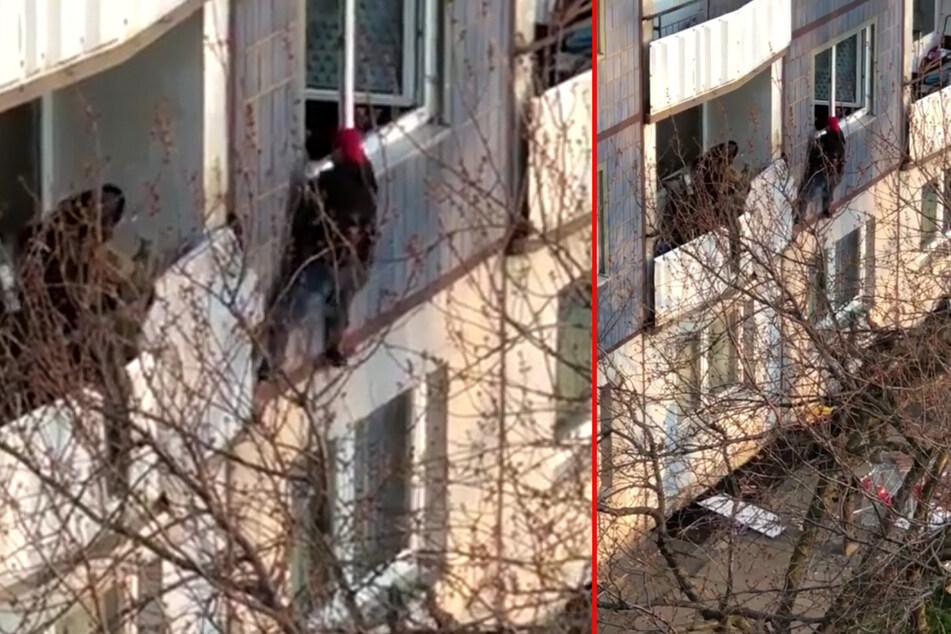 Im April rückte das SEK nach Zschertnitz aus, um Ammar S. vom Balkon zu holen.