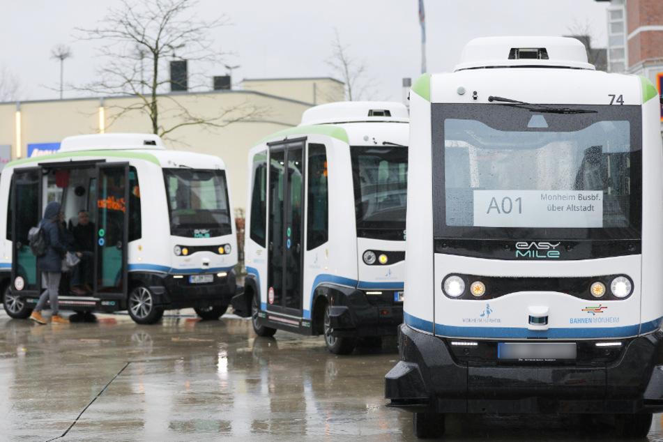 Selbstfahrende E-Busse in Mondheim. (Archivbild)