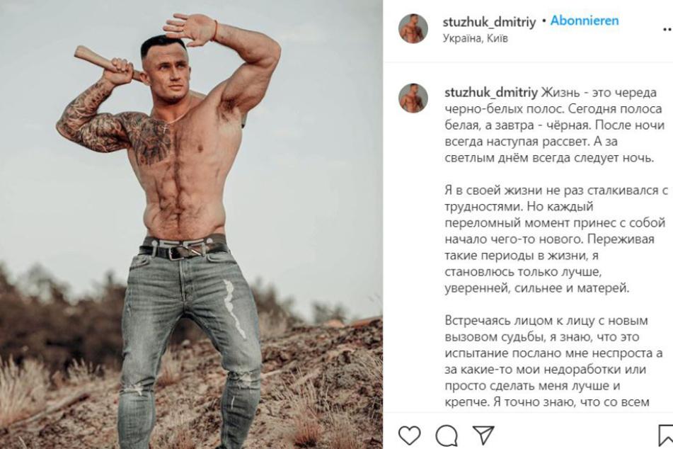 So präsentierte sich das Fitness-Ass auf Instagram.