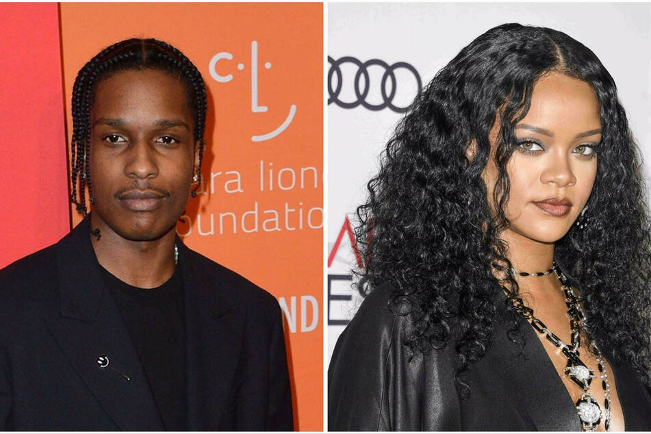 Rihanna and A$AP Rocky seen getting cozy on set of new project!
