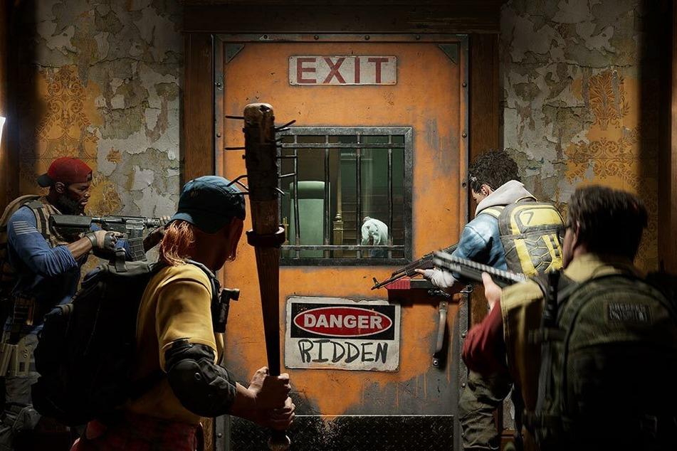 """Durchschnaufen, ausstatten, bereit machen. Sobald die Türe aufgeht, beginnt die nächste Runde im Wave Shooter """"Back 4 Blood""""."""