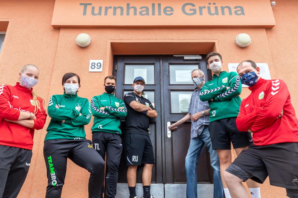 Die Grünaer Handballer können die winzige Turnhalle nicht für Spiele nutzen.