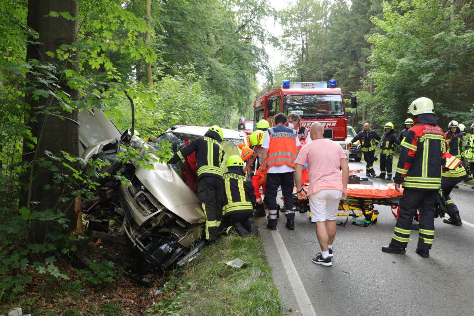 Polizei, Feuerwehr und Rettungskräfte waren zur Stelle.