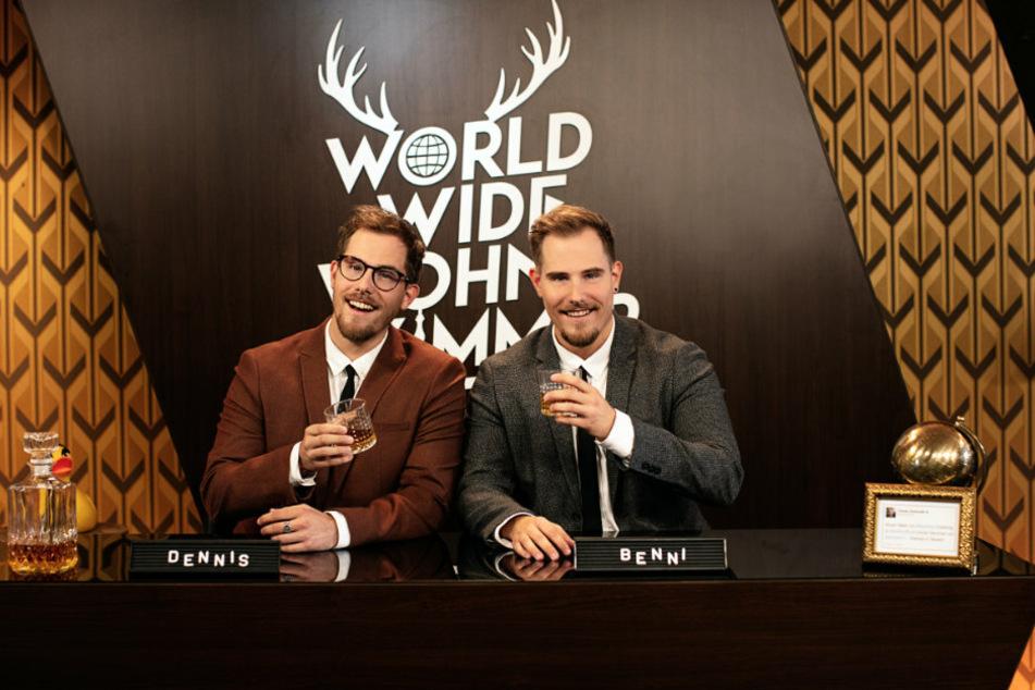 """Die Zwillinge Dennis und Benjamin """"Benni"""" Wolter (30) vom YouTube-Kanal """"World Wide Wohnzimmer"""""""