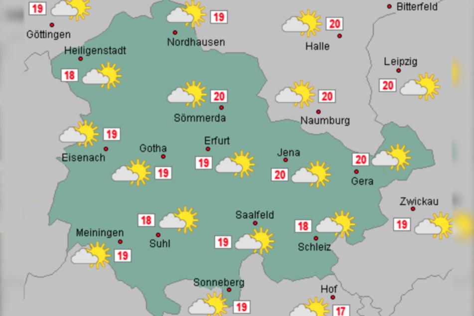 Am Wochenende bleibt es wechselhaft in Thüringen.