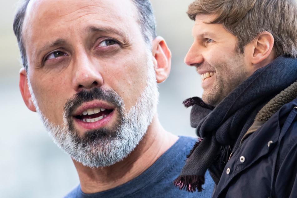 Verstehen sich gut: VfB-Coach Pellegrino Matarazzo (43, l.) und Noch-Vorstandsvorsitzender Thomas Hitzlsperger (39). (Fotomontage)