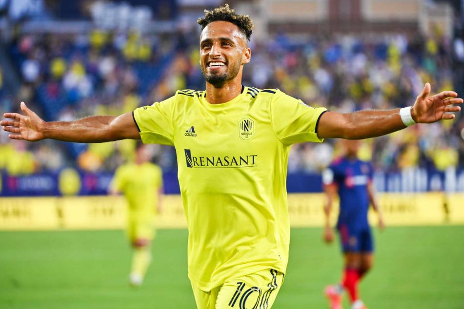 Ex-Hertha-Profi Hany Mukhtar (26) feiert den ersten Hattrick seiner Profi-Karriere, den er für seinen Klub SC Nashville in der MLS erzielt hat.