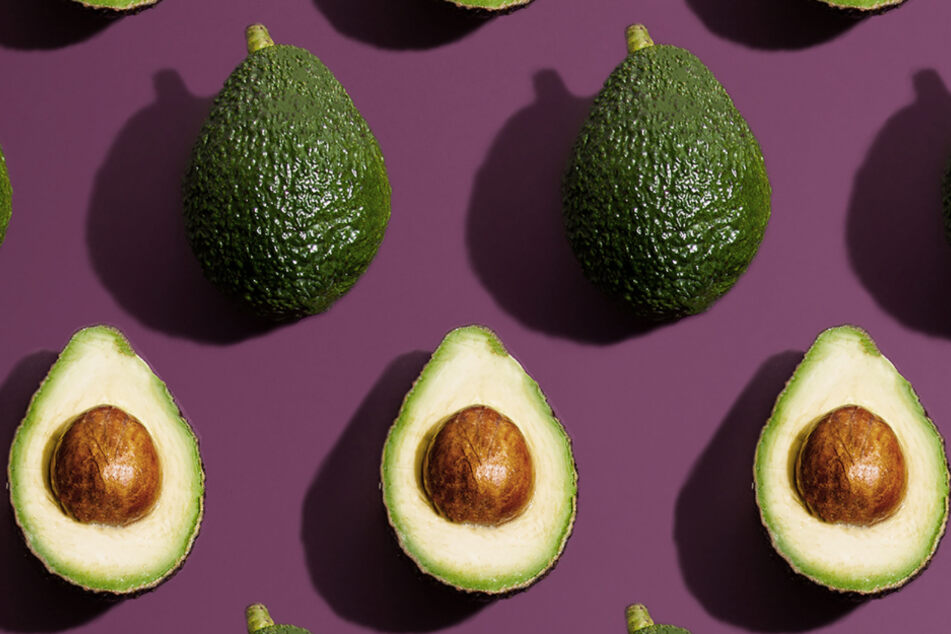 The avocado's small stem can reveal how ripe the fruit is.