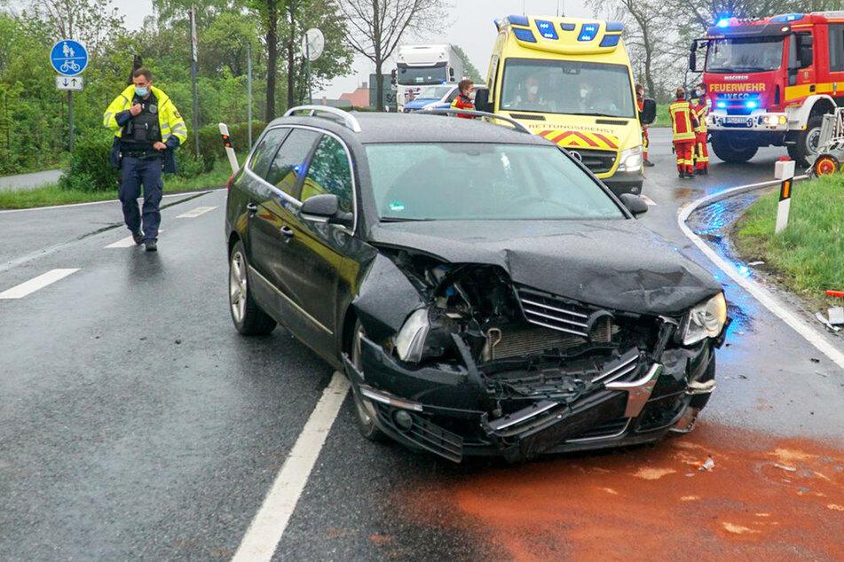 Vorfahrt genommen: Zwei Autos bei Radeberg ineinander gekracht