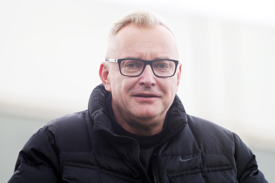 FCE-Geschäftsführer Michael Voigt freut sich auf Aue-Fans im Stadion (Archivbild).