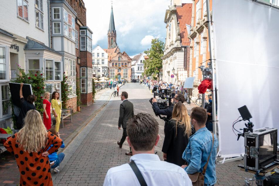 """Die ARD-Telenovela """"Rote Rosen"""" wird auch in der Altstadt von Lüneburg gedreht."""