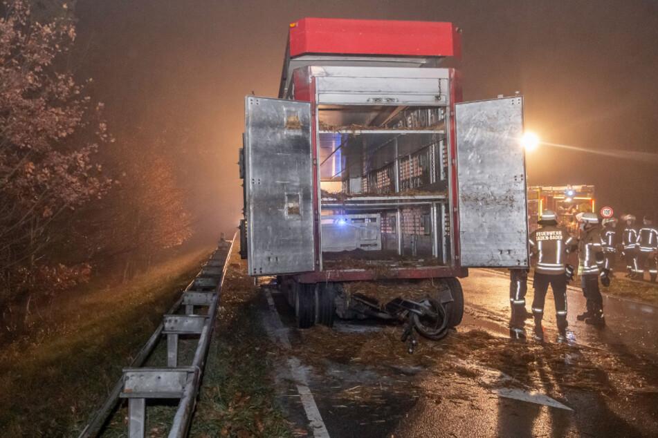 Der Transporter war ausgebrannt.