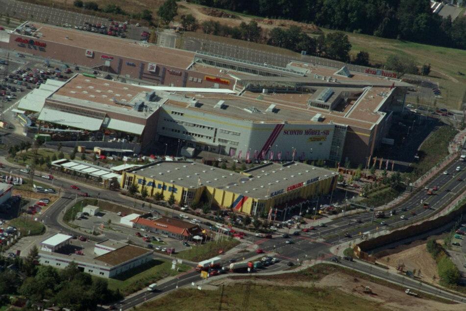 Luftaufnahme vom Kaufpark Nickern aus dem Jahr 1997.