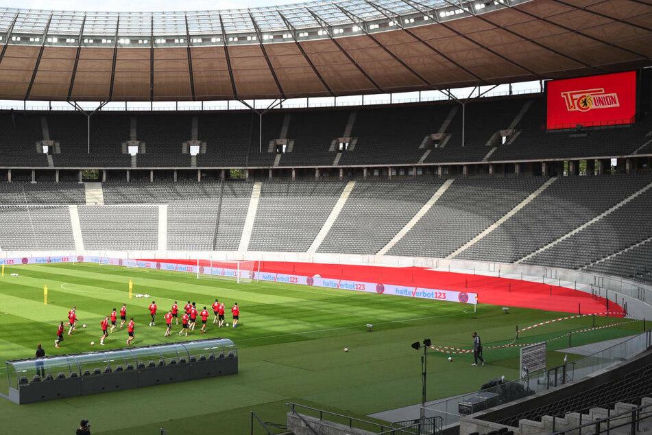 Schon beim Abschlusstraining von Union Berlin sind erste Veränderungen im Berliner Olympiastadion deutlich sichtbar gewesen.