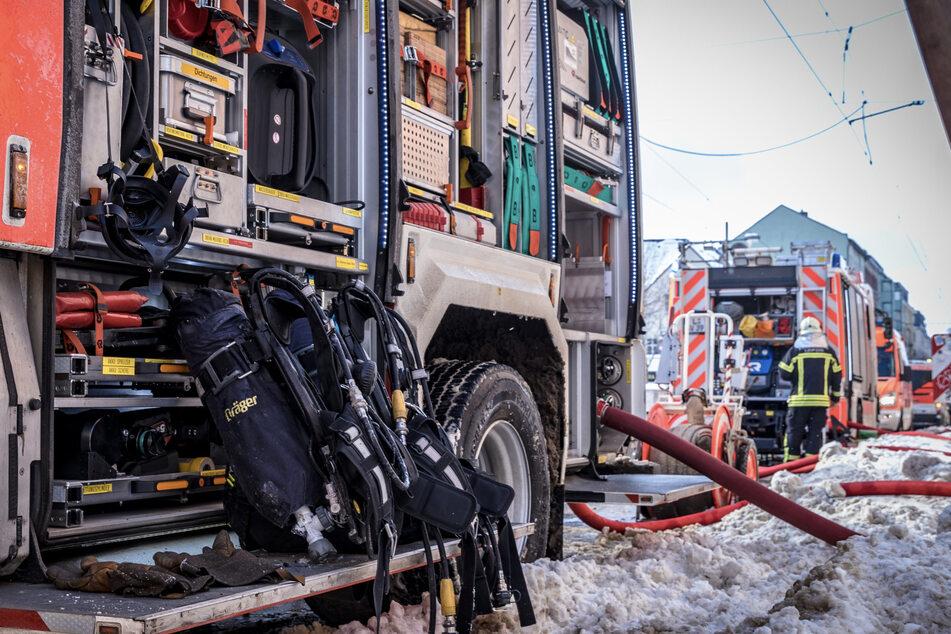 Gut zu tun: Die Kameraden der Feuerwehr waren am Donnerstag ordentlich unterwegs.