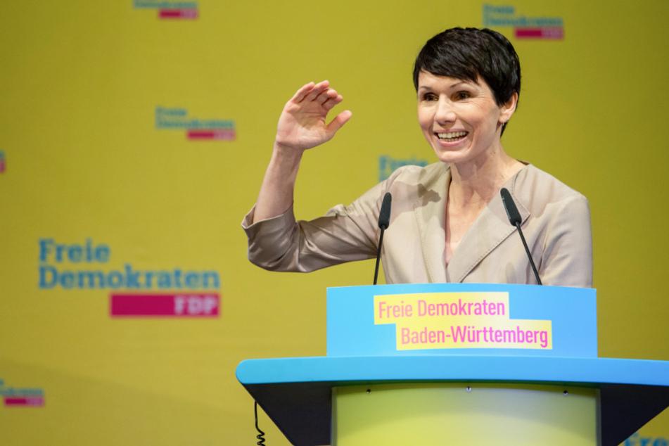Judith Skudelny, Generalsekretärin der FDP Baden-Württemberg, spricht während des 120. ordentlichen Landesparteitages der FDP Baden-Württemberg.