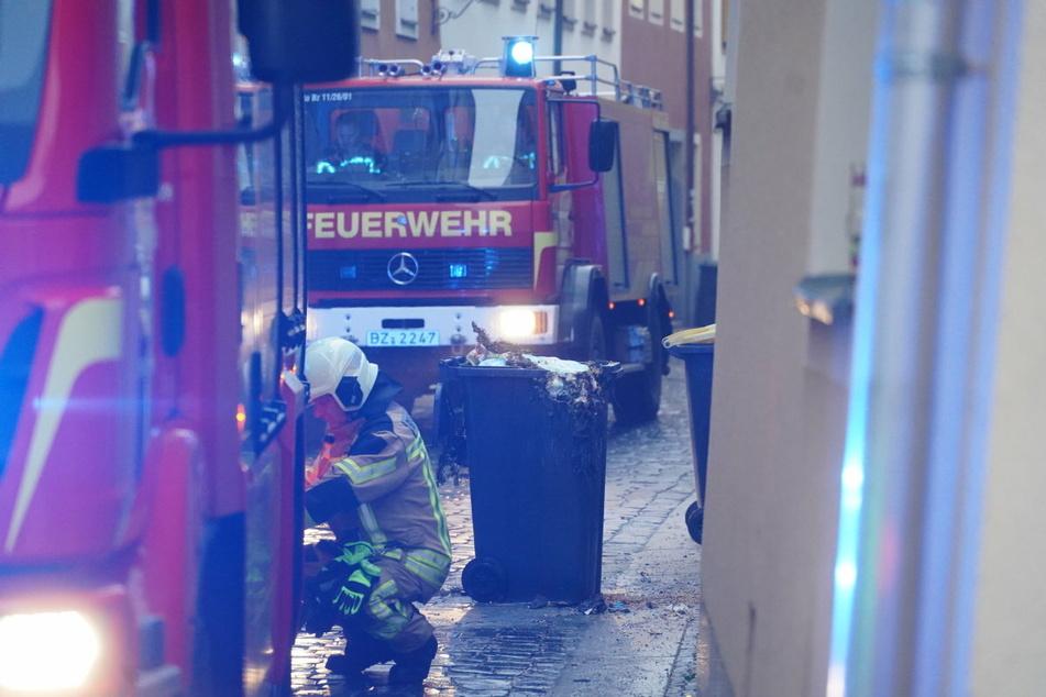 In der Kesselstraße in Bautzen wurde eine Bio-Tonne angesteckt.