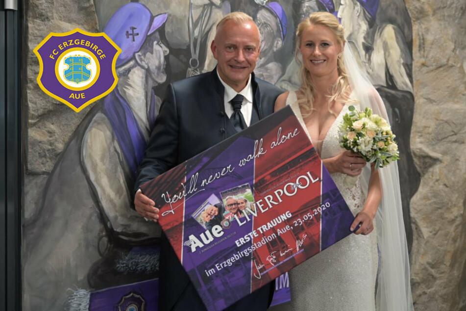 Hochzeitsglocken und Steigermarsch: FCE-Manager Voigt und seine Mandy trauen sich