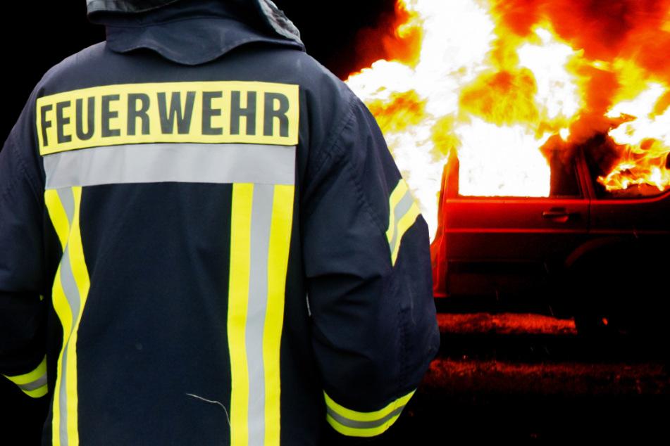 Als die Feuerwehr eintraf, brannte der Wagen bereits lichterloh (Symbolbild).