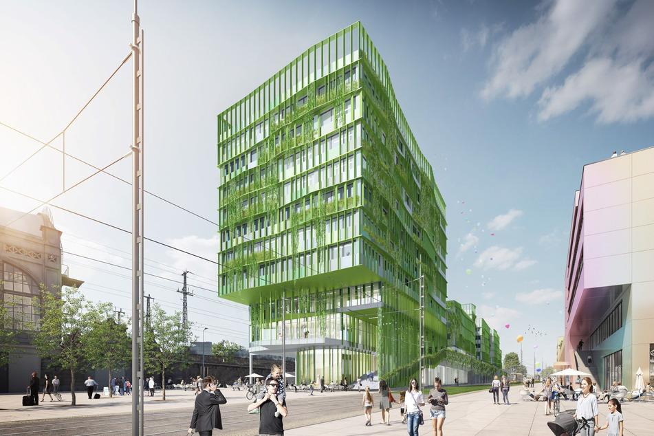 So soll der neue Fernbusterminal zwischen Hauptbahnhof und Simmel-Einkaufszentrum ab 2025 aussehen.