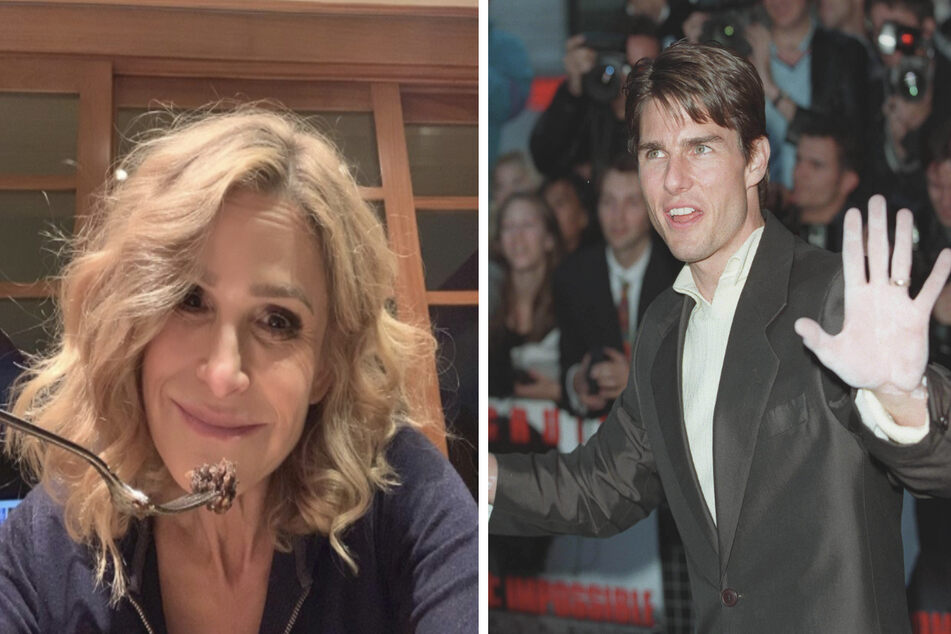 Kyra Sedgwick (l.) and Tom Cruise probably won't dine together again (collage).