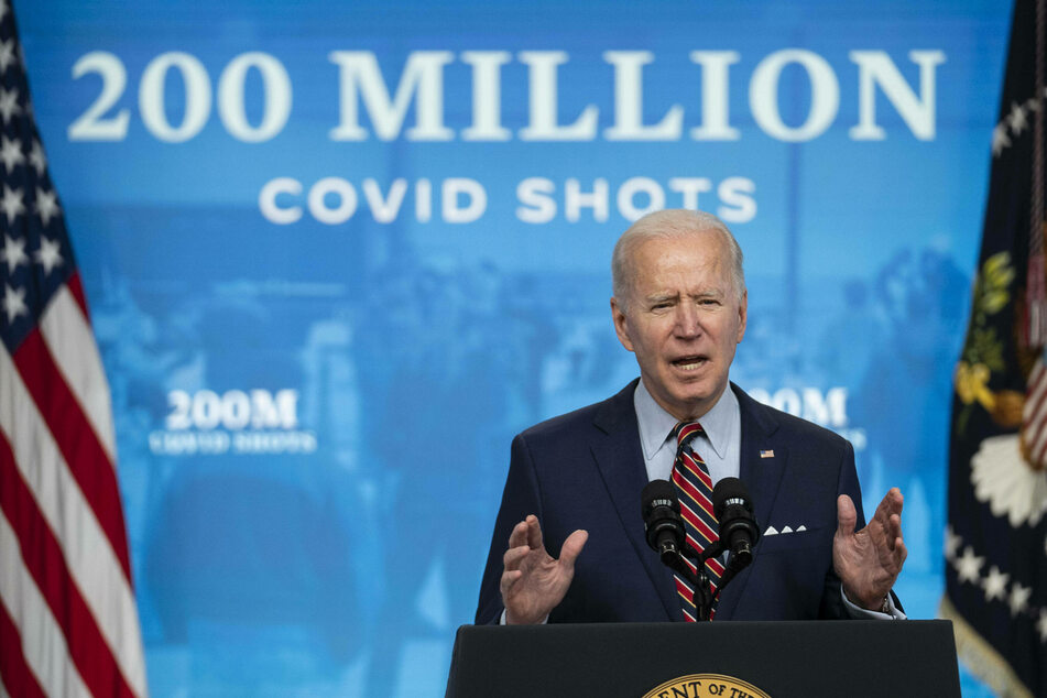 Biden announced that on Thursday, the US will achieve its goal of giving 200 million vaccine shots in his first 100 days in office