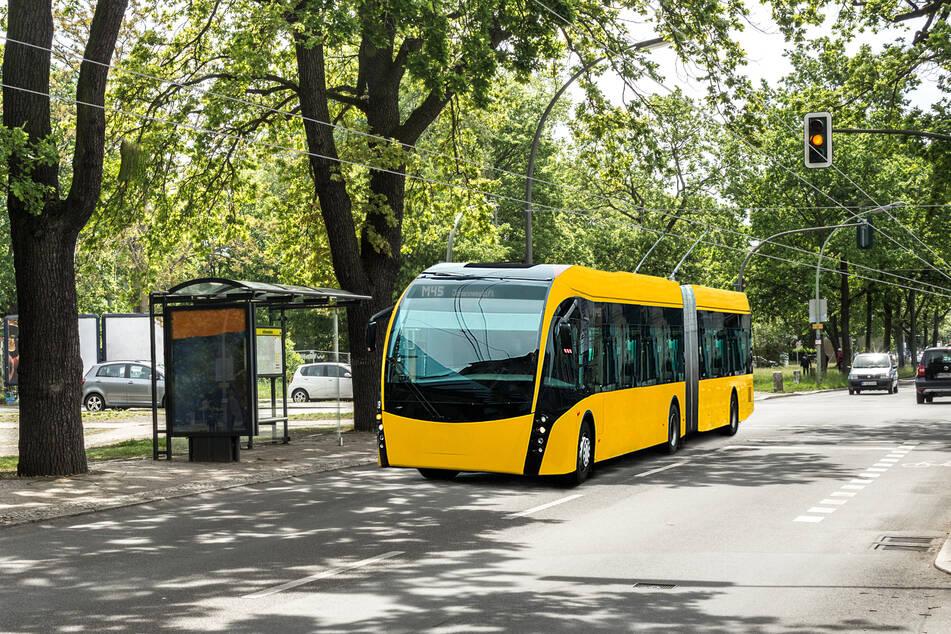 Die Berliner Verkehrsbetriebe haben bereits Visualisierungen für ihre Stadt anfertigen lassen: So könnten die neuen HO-Busse aussehen.
