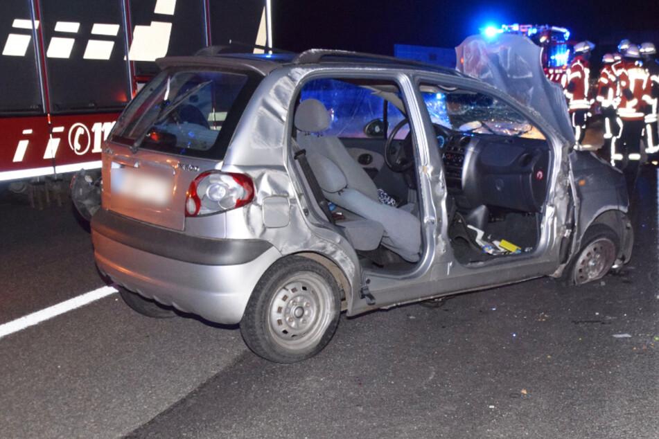 Kleinwagen überschlägt sich, Fahrerin schwer verletzt: A6 teilweise gesperrt