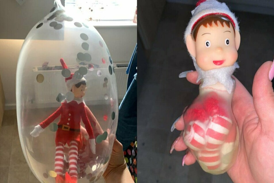 This Elf on the Shelf is spending quarantine in a condom
