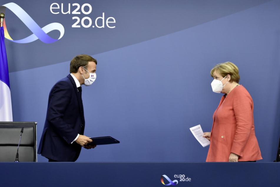 Frankreichs Präsident Emmanuel Macron (42) und Bundeskanzlerin Angela Merkel (64).