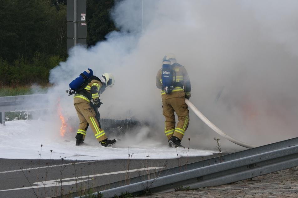Mehrere Feuerwehren waren im Einsatz vor Ort.