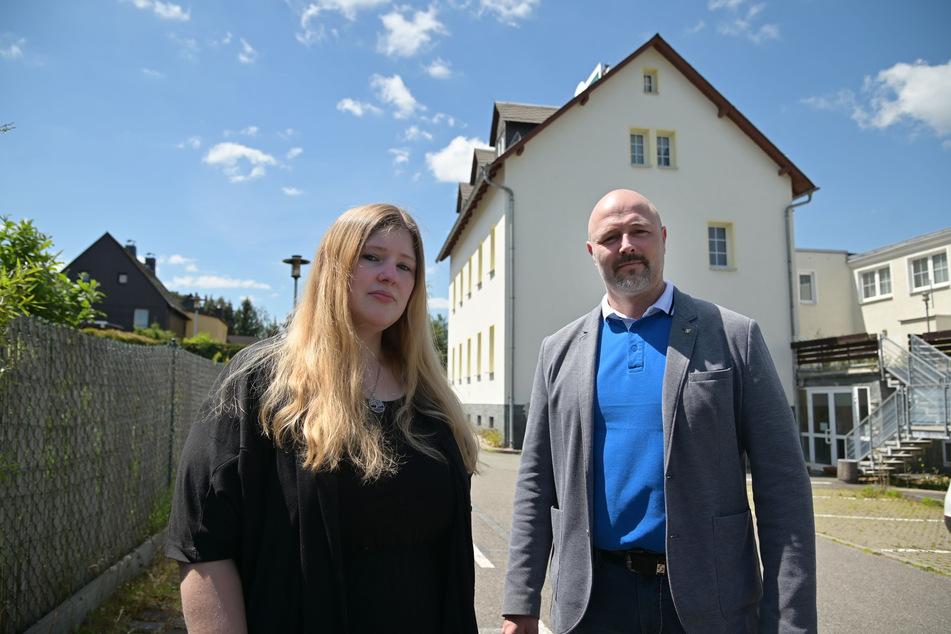 Ortschaftsrätin Diana Rabe (31, AfD) und Stadtrat Nico Köhler (44, AfD) kritisieren das Sozialamt. Der Dorf-Mittelpunkt sei der falsche Standort.