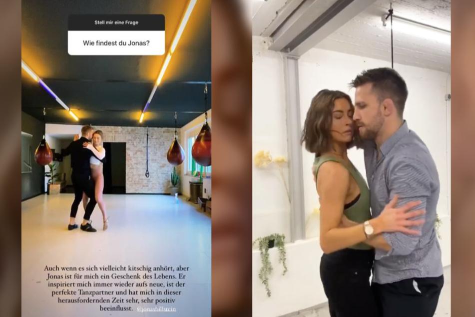Jennifer Lange (27) und Jonas Billstein (29) treffen sich seit Monaten zum Tanztraining. Fans finden, die beiden Sportler wären ein tolles Paar.