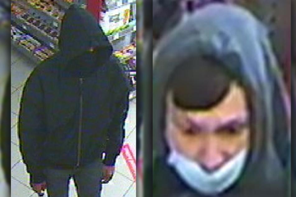 Die beiden Täter klauten Zigaretten und mehrere Hundert Euro bei ihrem nächtlichen Tankstellenüberfall.