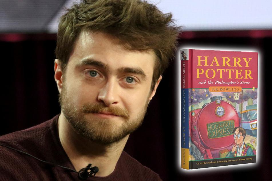 """Die Originalausgabe von """"Harry Potter und der Stein der Weisen"""" ist heute ein extrem seltenes Sammlerstück. Der britische Schauspieler Daniel Radcliffe (32) verkörperte die Figur in acht Filmen."""