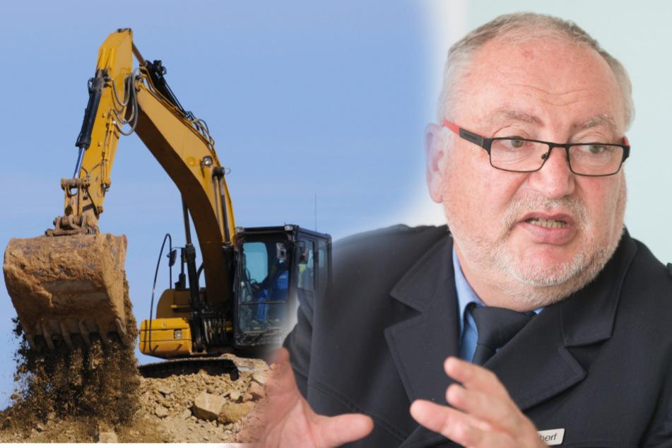 Bomben-Gefahr beim Baggern: Polizei-Sprecher Jürgen Scherf (60) sieht mögliche Evakuierungen als großes Risiko.