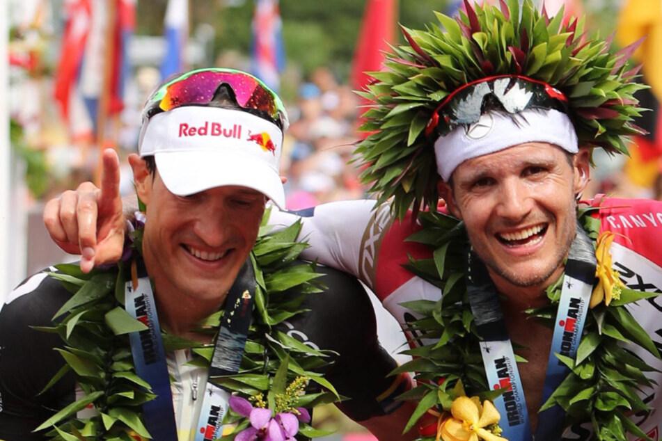 Jan Frodeno (r.) konnte im letzten Jahr unter anderem zum dritten Mal in seiner Karriere den prestigeträchtigen Ironman Hawaii gewinnen.