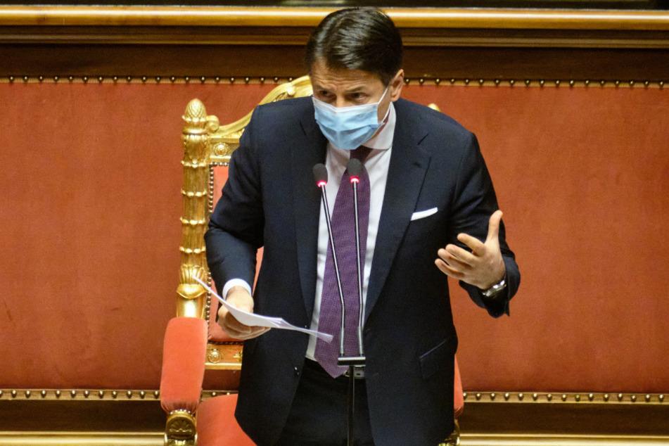 Giuseppe Conte, Premierminister von Italien, spricht im Senat.