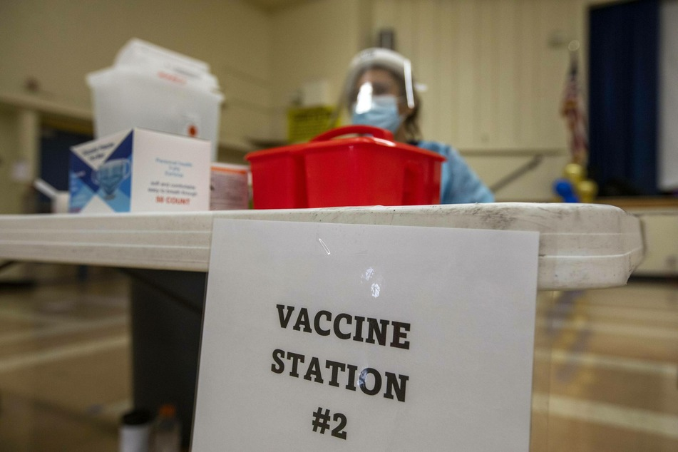 Mobile vaccination clinics have been held at schools in the Los Angeles area.