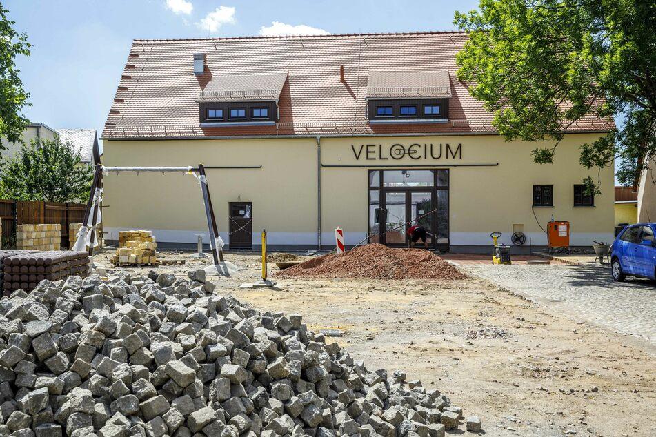 """Im Oktober soll die Fahrraderlebniswelt """"Velocium"""" in Weinböhla eröffnen."""