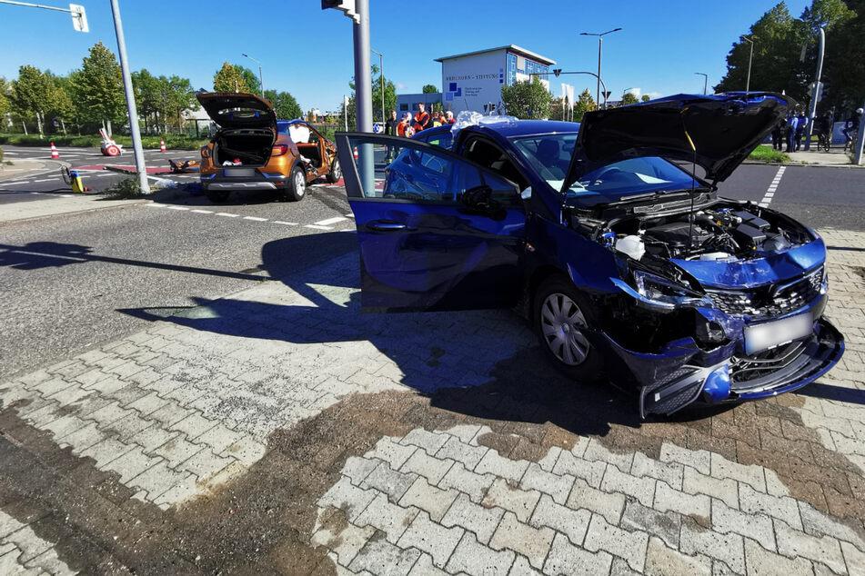 Schwerer Unfall im Leipziger Norden: Vier Personen verletzt