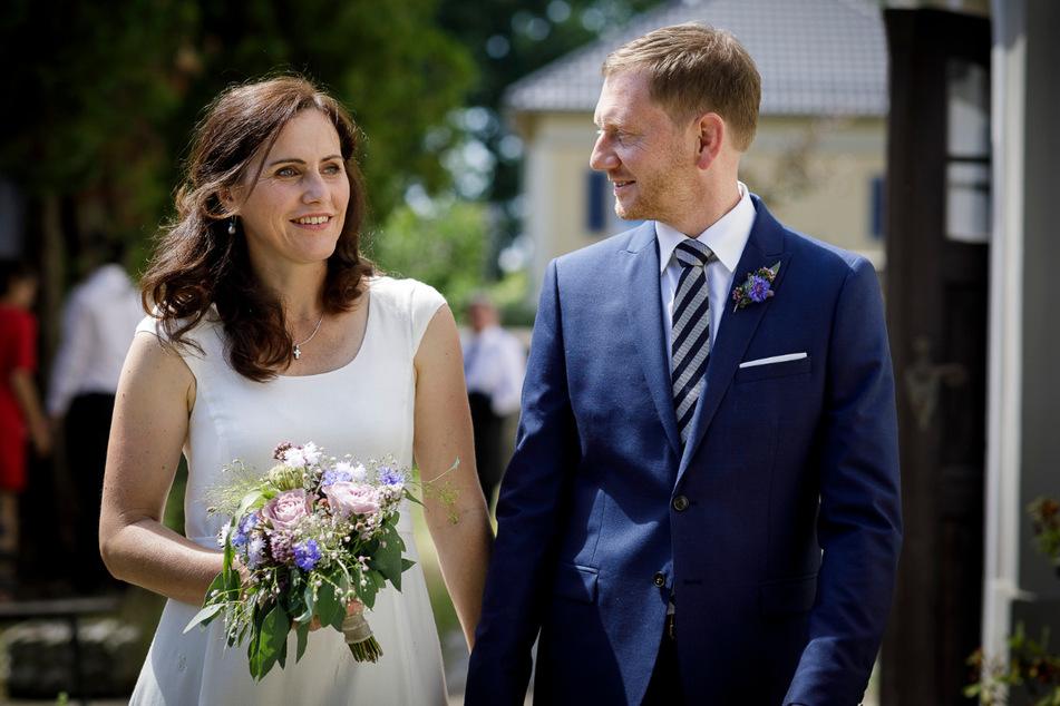Haben sich vor der Heirat eine lange Probezeit gegönnt: Sachsens First Lady Annett Hofmann und MP Michael Kretschmer (beide 45).
