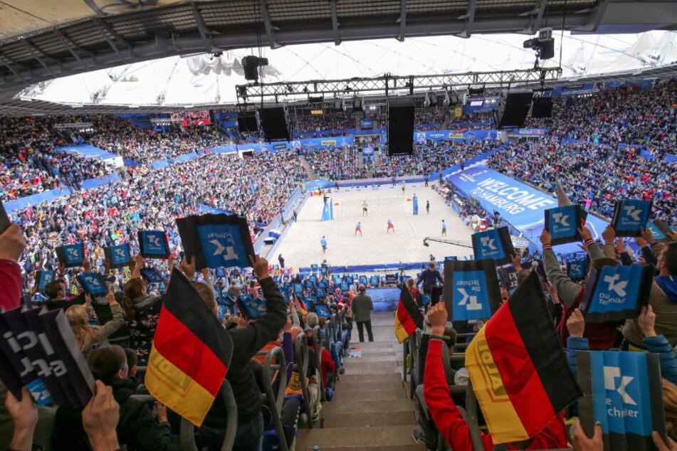 Die Fans strömten im vergangenen Jahr in Scharen zur Beachvolleyball-WM in Hamburg.