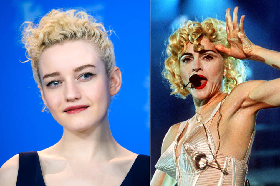 The fans are sure that Julia Garner (26, l) will play Madonna (62) in the new biopic.
